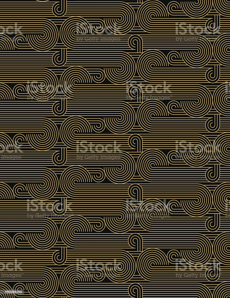 Seamless - Vector Background Curls and Swirls royalty-free stock vector art