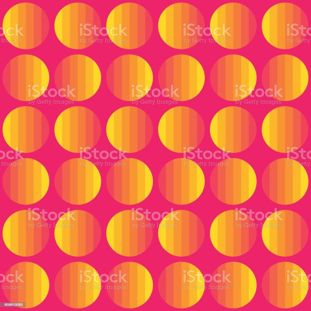 seamless vector background of striped circles in 80s style. vector art illustration