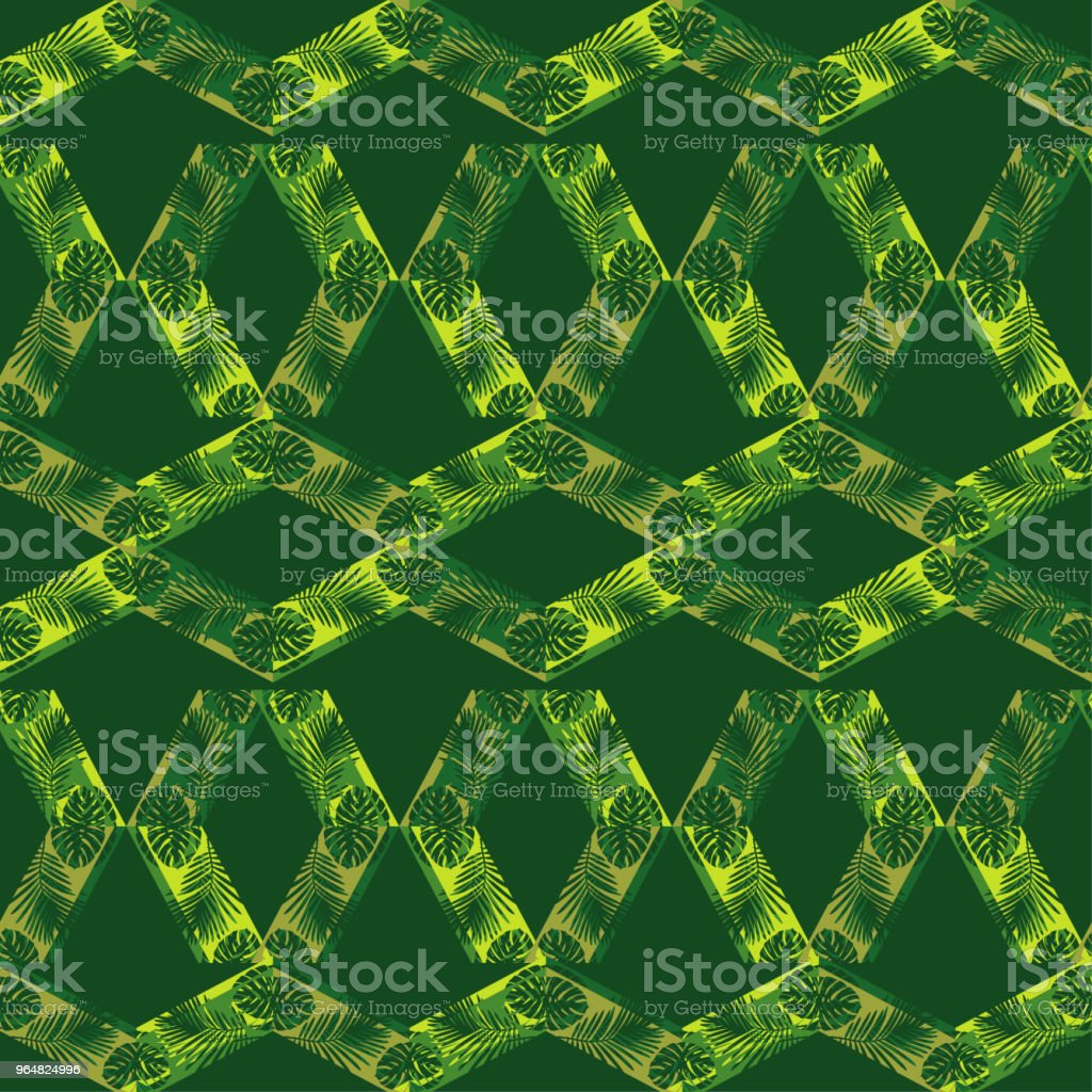 Seamless vector background with decorative leaves. Halftone. The texture of rhombus. Texture of palm leaves. Textile rapport. royalty-free seamless vector background with decorative leaves halftone the texture of rhombus texture of palm leaves textile rapport stock vector art & more images of abstract