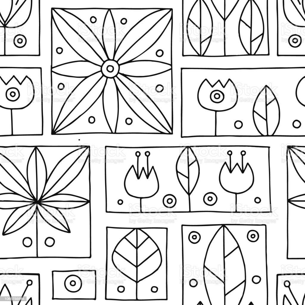 Ilustracion De Vector Transparente Mano Decorativa Blanco Y Negro