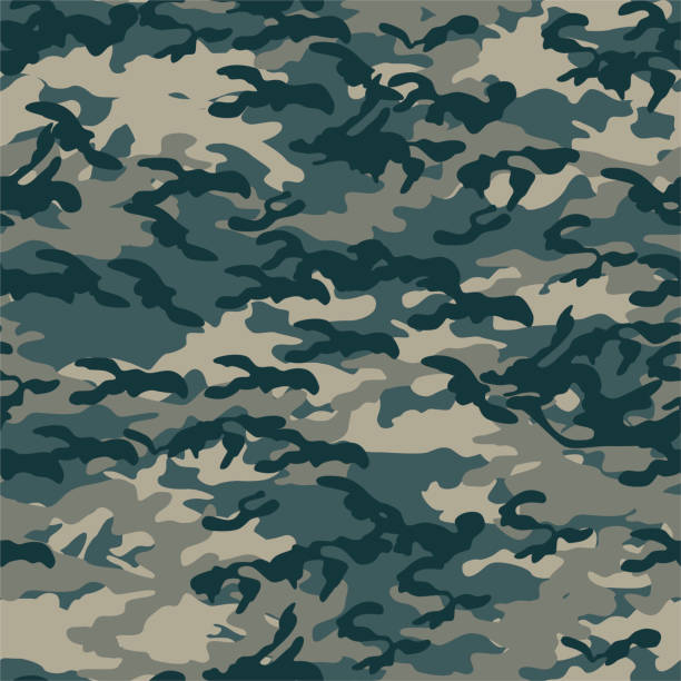 seamless vector camouflage pattern. military/ uniform/ army background. for fabric, textile, design, advertising banner. - jungle stock illustrations