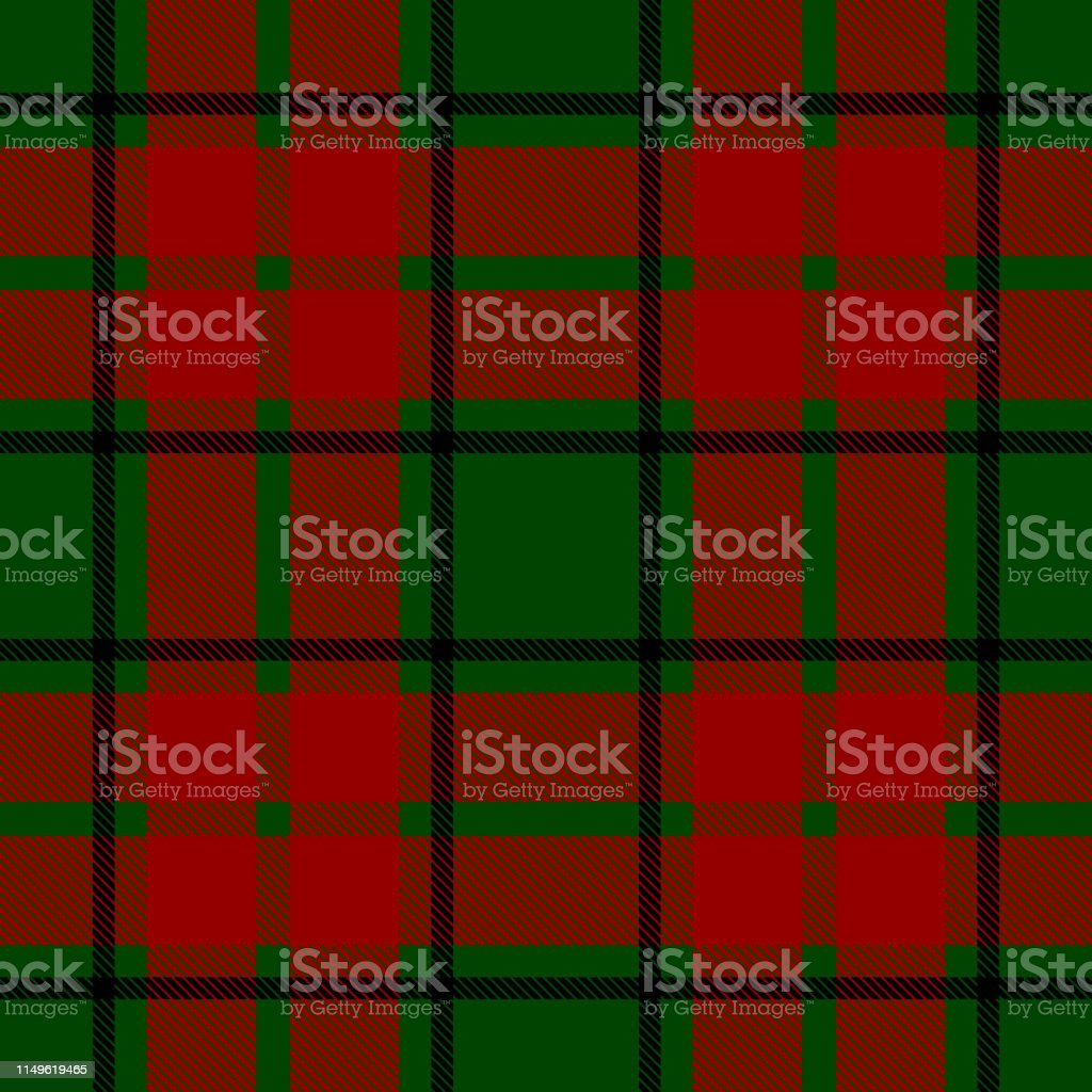 seamless vector christmas check pattern black green and red design vector id1149619465