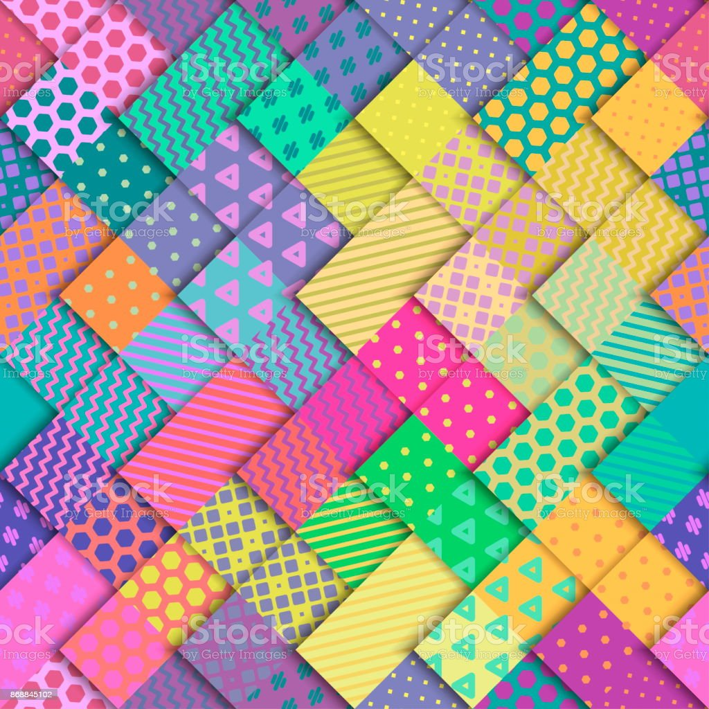Seamless vector colorful bright pattern. vector art illustration