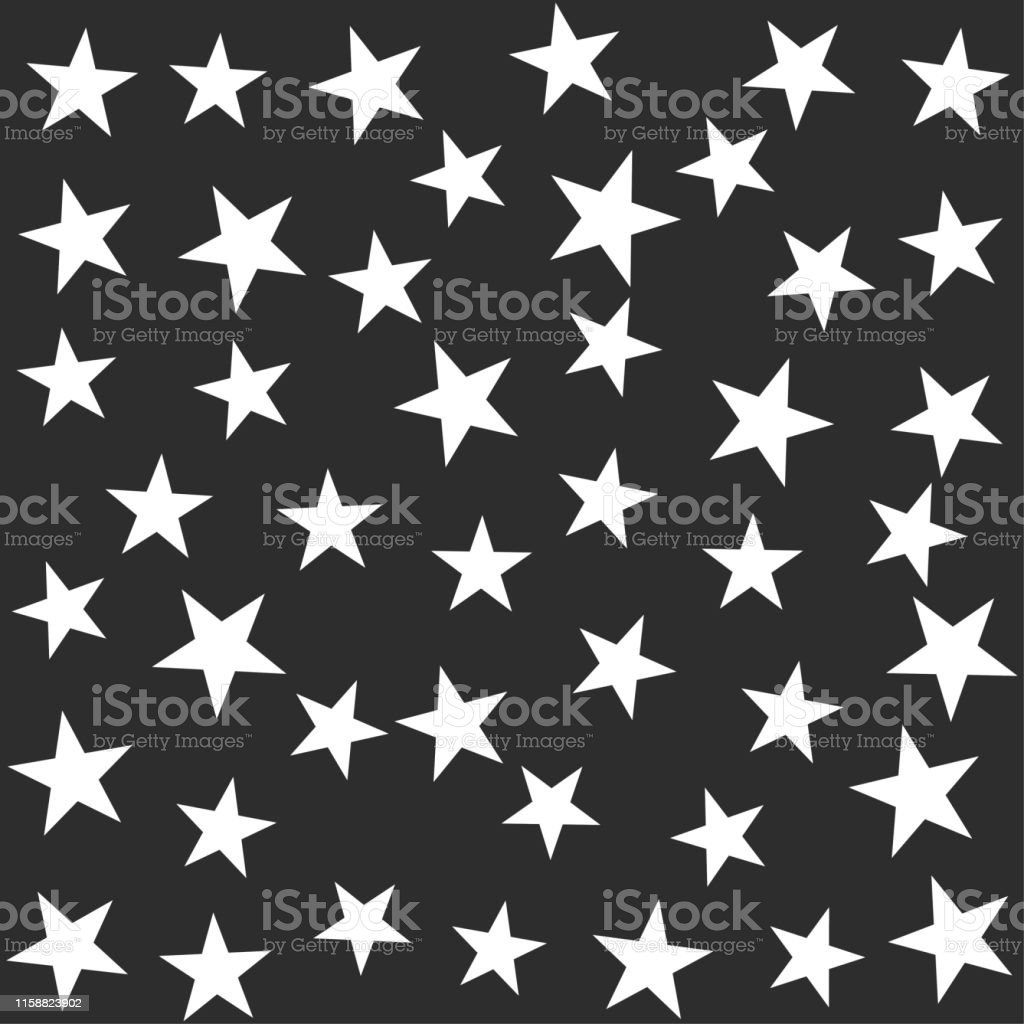 Seamless vector cosmic pattern with chaotical star shape elements....