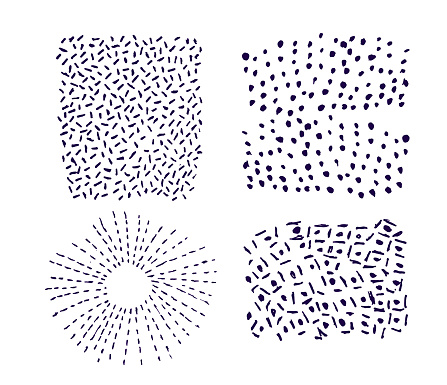Seamless vector doodle textures set of 4