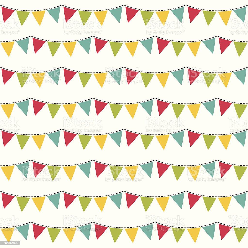 Seamless vector flags pattern vector art illustration