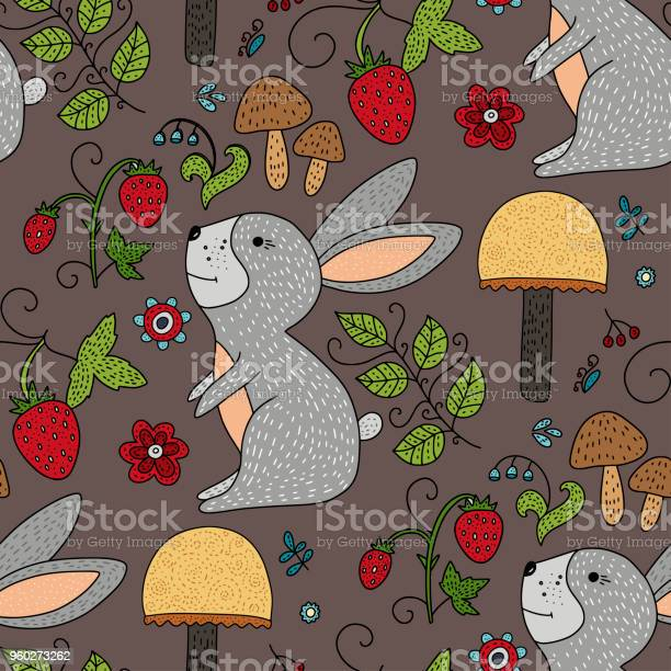Seamless vector forest pattern with cute color illustrations vector id960273262?b=1&k=6&m=960273262&s=612x612&h=jtbp g5nl2h2c82gybdvk5f1fxxx qxflwc7h6srtjm=