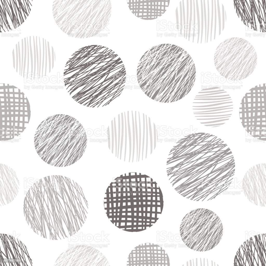 Seamless vector geometrical pattern with circles endless background with hand drawn textured geometric figures, forms Pastel Graphic illustration Template for wrapping, web backgrounds, wallpaper royalty-free seamless vector geometrical pattern with circles endless background with hand drawn textured geometric figures forms pastel graphic illustration template for wrapping web backgrounds wallpaper stock vector art & more images of back