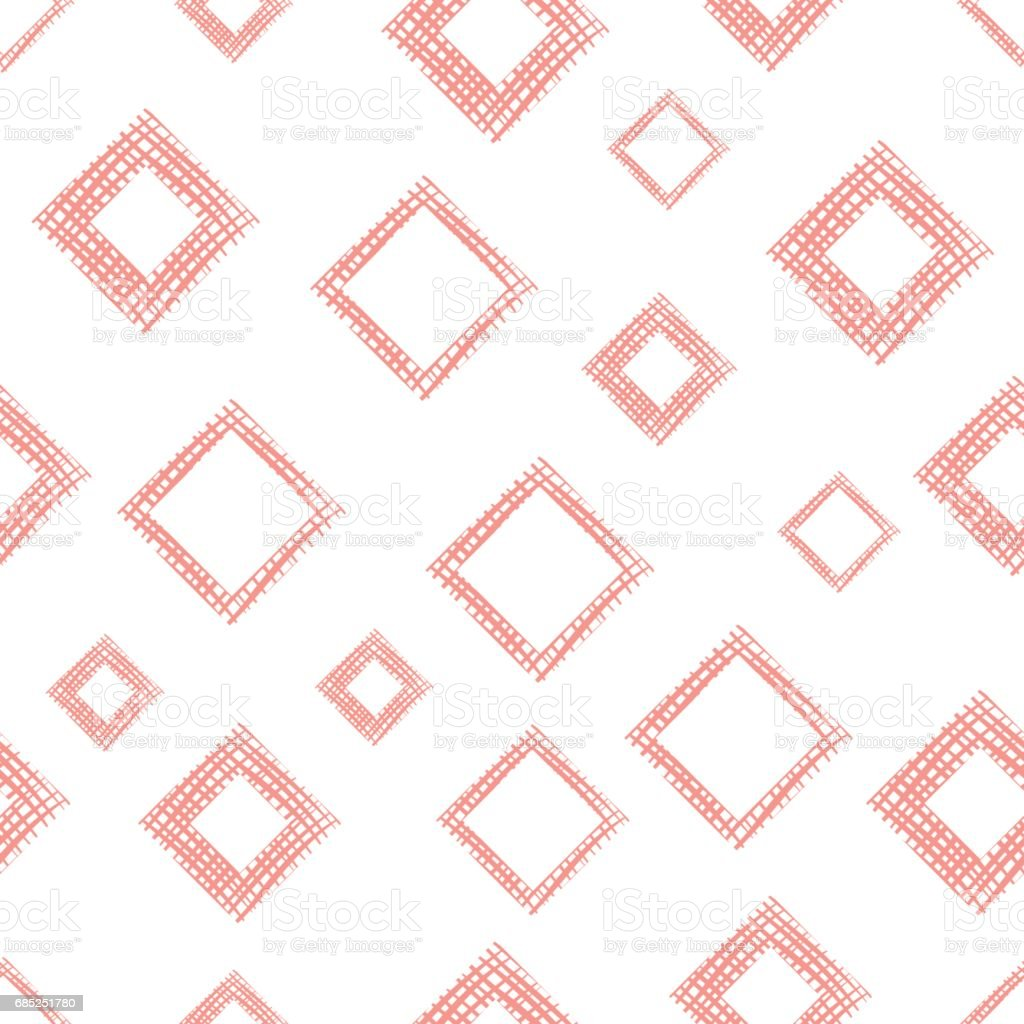 Seamless vector geometrical pattern with rhombus, squares, rectangles endless background with hand drawn textured geometric figures. Pastel Graphic illustration Template for wrapping, web backgrounds royalty-free seamless vector geometrical pattern with rhombus squares rectangles endless background with hand drawn textured geometric figures pastel graphic illustration template for wrapping web backgrounds stock vector art & more images of arts culture and entertainment