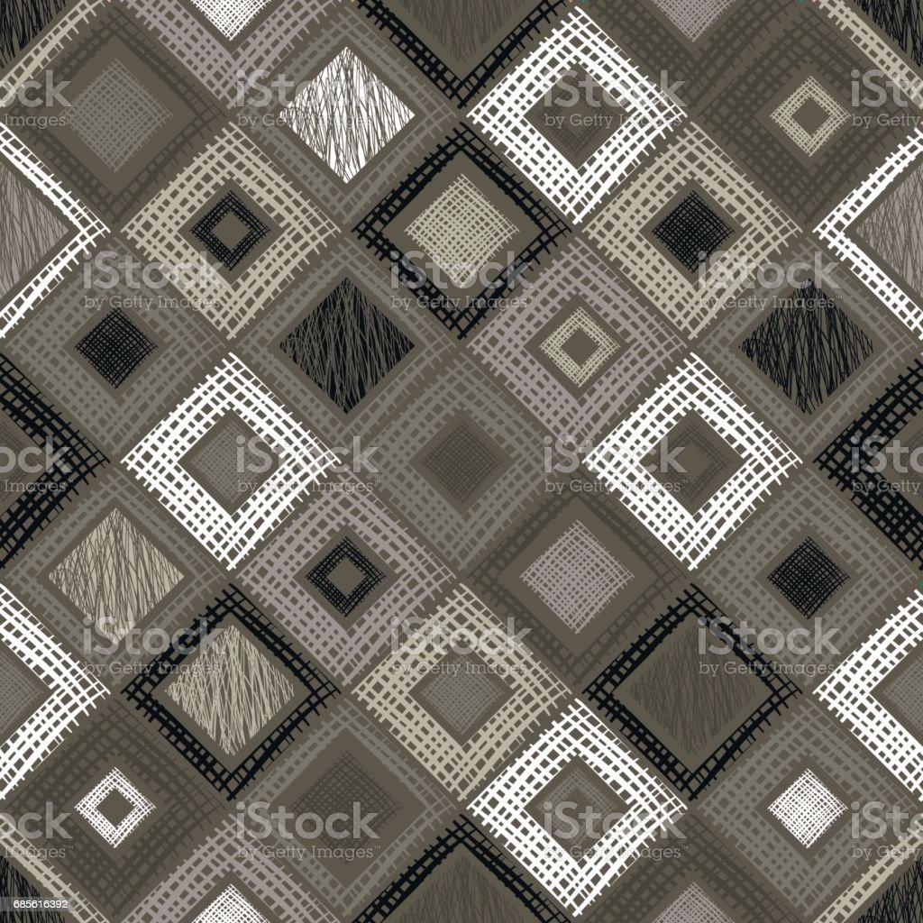 無縫向量幾何圖案菱形,正方形,長方形無盡背景與手繪質感幾何圖形。包裝,web 背景的粉彩圖形圖範本 免版稅 無縫向量幾何圖案菱形正方形長方形無盡背景與手繪質感幾何圖形包裝web 背景的粉彩圖形圖範本 向量插圖及更多 互聯網 圖片