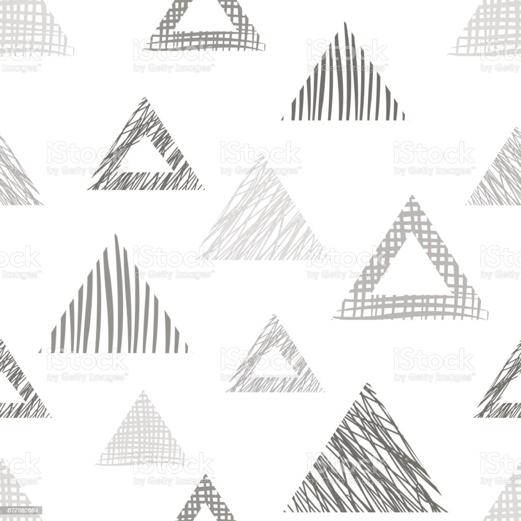 Seamless vector geometrical pattern with triangles, rectangles. endless background with hand drawn textured geometric figures. Pastel Graphic illustration Template for wrapping, web backgrounds, wallpaper royalty-free seamless vector geometrical pattern with triangles rectangles endless background with hand drawn textured geometric figures pastel graphic illustration template for wrapping web backgrounds wallpaper stock vector art & more images of back