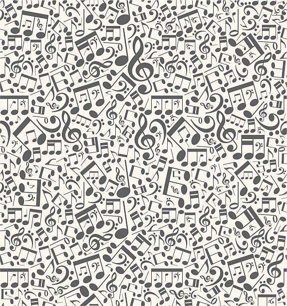 bezszwowe wektor muzyczne tło z notatek - zapis nutowy stock illustrations