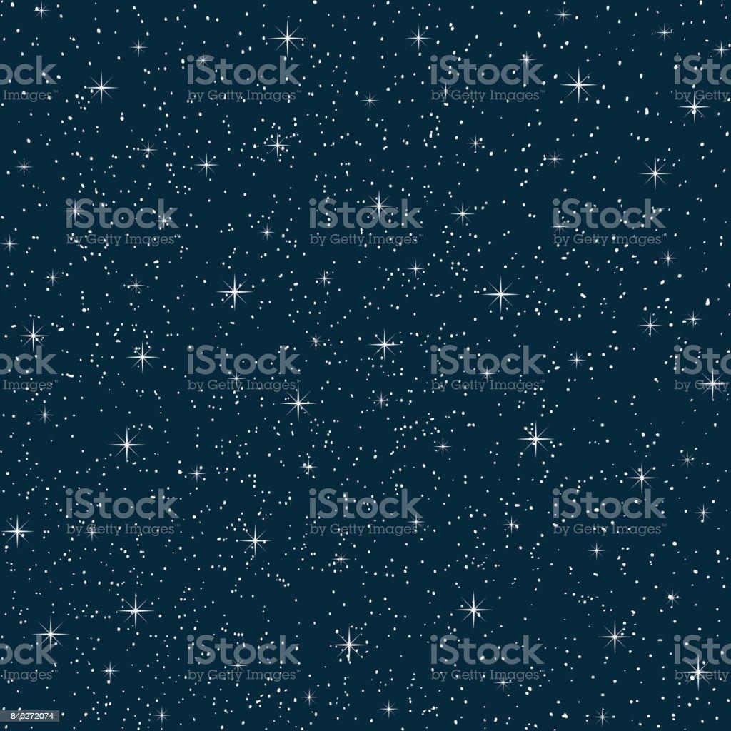 seamless vector night sky vector art illustration