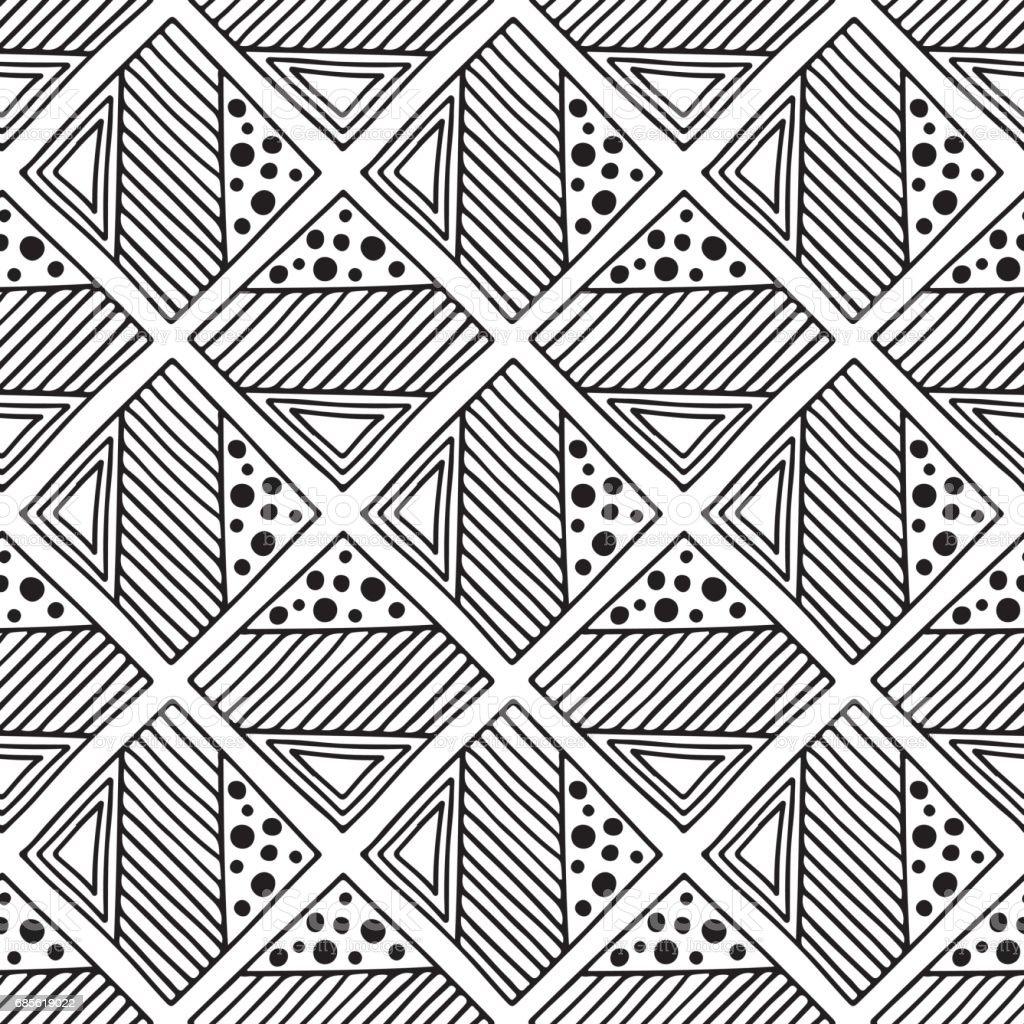 無縫向量模式。黑色和白色幾何背景用手繪製部落的裝飾元素。列印與民族、 民俗、 傳統的圖案。圖形的向量圖。 免版稅 無縫向量模式黑色和白色幾何背景用手繪製部落的裝飾元素列印與民族 民俗 傳統的圖案圖形的向量圖 向量插圖及更多 中國文化 圖片