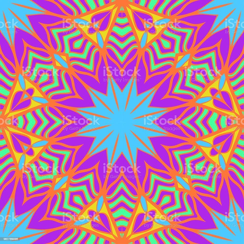 Seamless vector pattern. Geometric floral ornament. For Interior decoration, wallpaper, presentation, fashion design. - arte vettoriale royalty-free di Arredamento