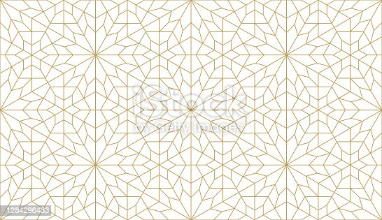 istock Seamless vector pattern in authentic arabian style. 1284296433