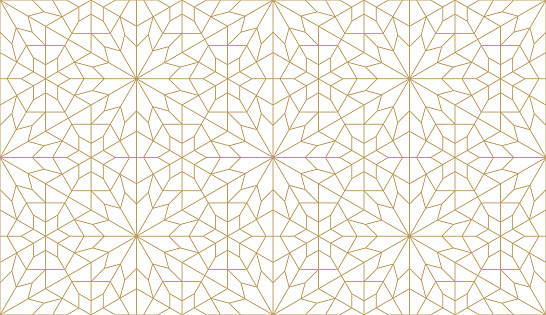 Seamless vector pattern in authentic arabian style.