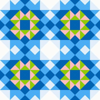 Seamless vector pattern in geometric .