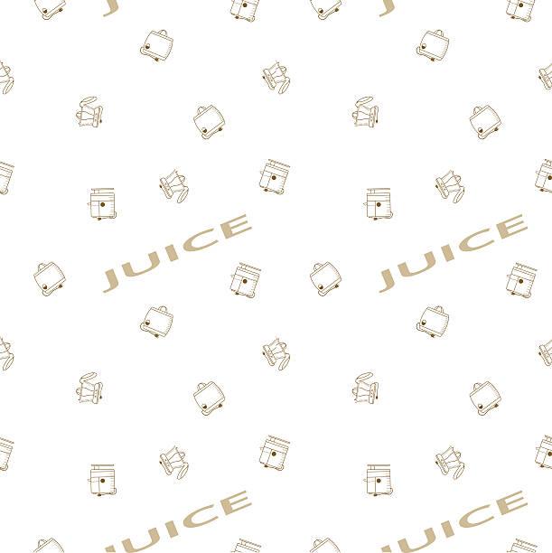 ilustraciones, imágenes clip art, dibujos animados e iconos de stock de seamless vector pattern of juicers - busy restaurant kitchen