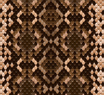 Seamless vector pattern of snake skin realistic illustration
