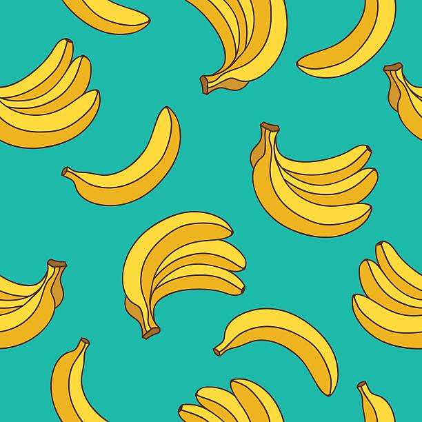illustrazioni stock, clip art, cartoni animati e icone di tendenza di seamless pattern di vettoriale giallo banane - banana