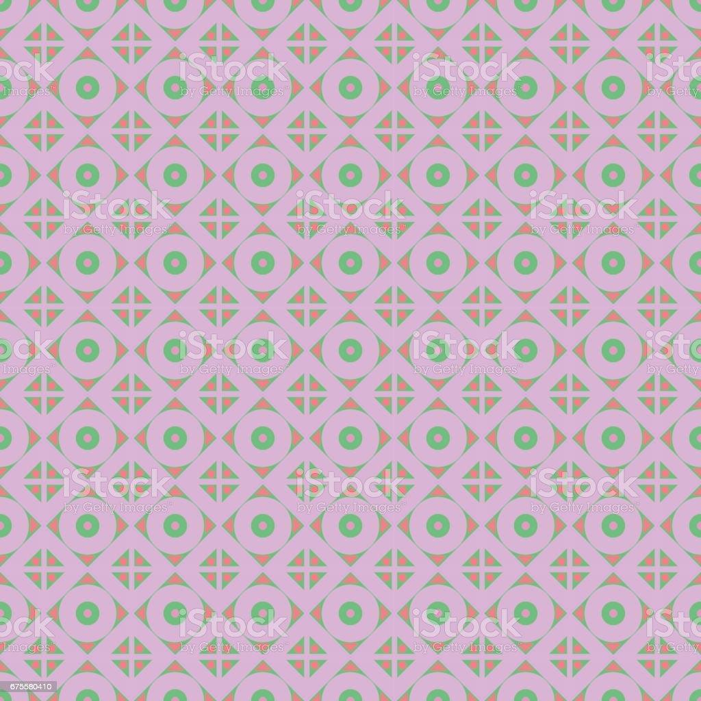 Modèle vectoriel sans soudure. Symétrie géométrique abstrait avec losange et cercles de couleurs roses. Ornement décoratif de répétition. Série de motif géométrique et ornemental modèle vectoriel sans soudure symétrie géométrique abstrait avec losange et cercles de couleurs roses ornement décoratif de répétition série de motif géométrique et ornemental – cliparts vectoriels et plus d'images de abstrait libre de droits