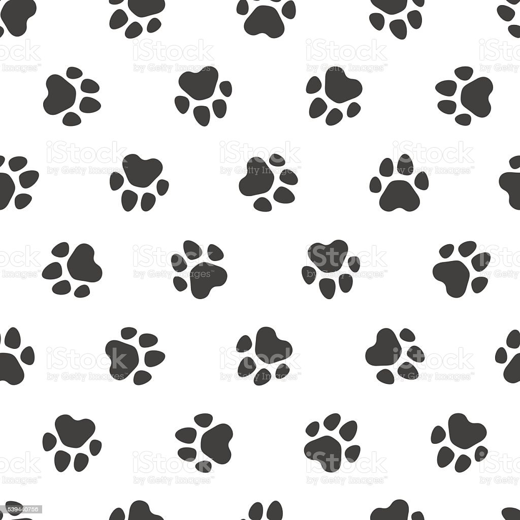 Seamless vector pattern - traces of paws royalty-free stock vector art