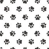 Seamless vector pattern - traces of paws