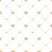 Seamless vector pattern Valentine's Day.