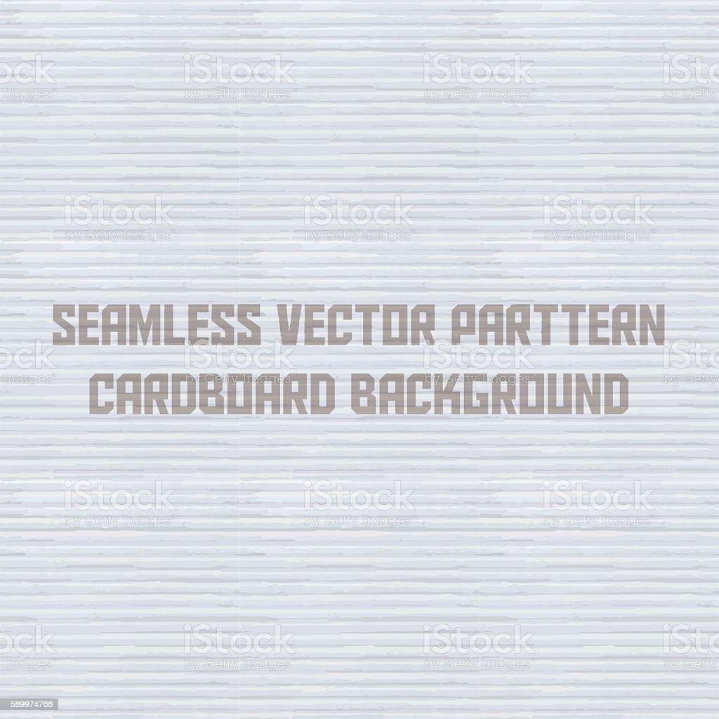 Seamless vector pattern white cardboard background vector art illustration