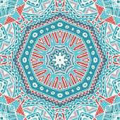seamless vector pattern winter geometric print