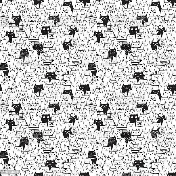 Seamless vector pattern with cute cats vector id576594624?b=1&k=6&m=576594624&s=612x612&h=bmb6npuxqth7enngmcqcbhvfegx8zkxjly3vm8pi6rw=