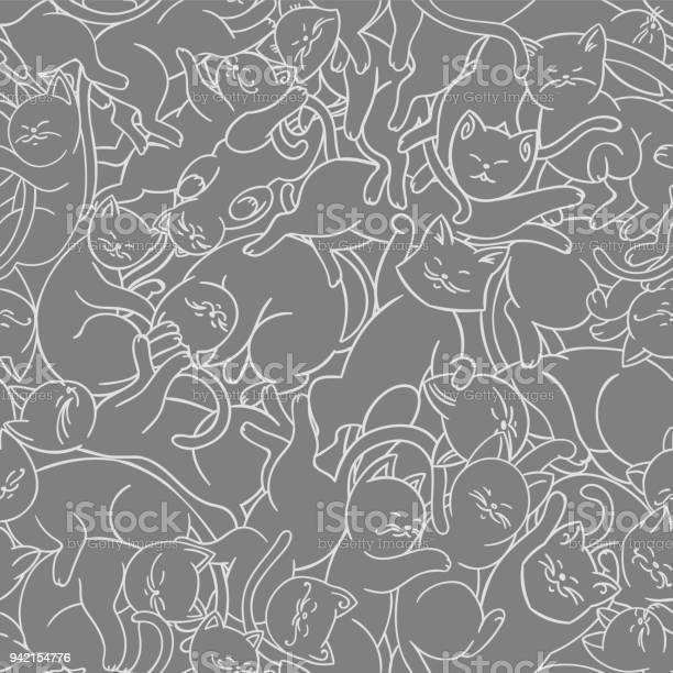Seamless vector pattern with cute cats vector id942154776?b=1&k=6&m=942154776&s=612x612&h=xopgp0ldlzmiv12ozzmu zwsdnqc9zv3yulobsbnqsi=