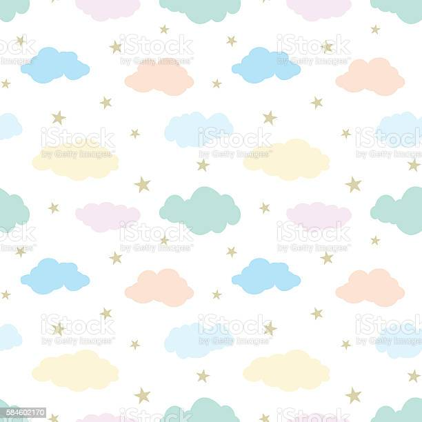 Seamless vector pattern with cute clouds and stars vector id584602170?b=1&k=6&m=584602170&s=612x612&h=ck8r7bbc7nl8u zcsucypz2s69tnjqmfz8zzzj25fyu=