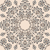 Repeat vector pattern with cutout flowers.