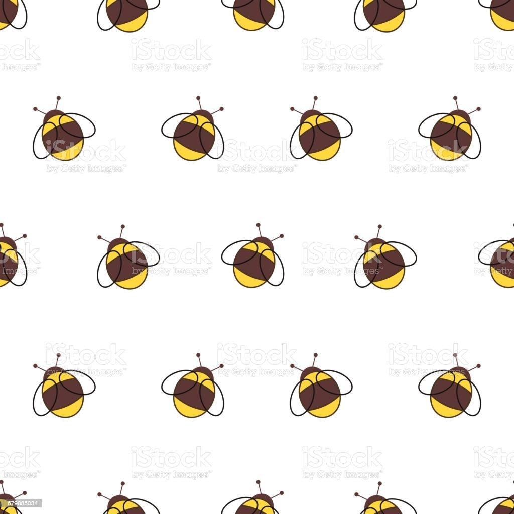 Ilustración de Patrón Transparente De Vector Con Insectos Fondo Con ...