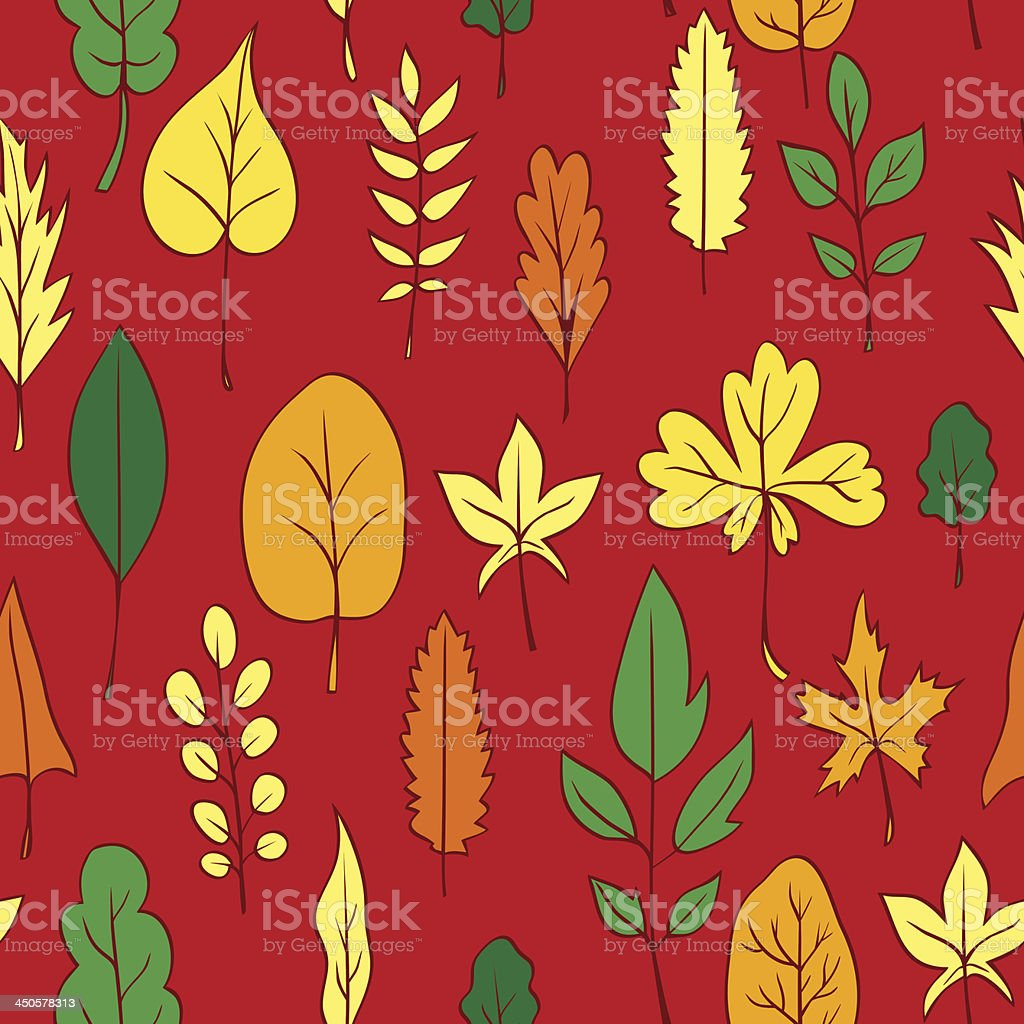 Seamless vector pattern with leaves royalty-free seamless vector pattern with leaves stock vector art & more images of abstract