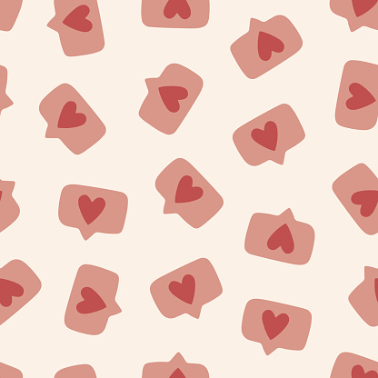 Seamless vector pattern with like signs