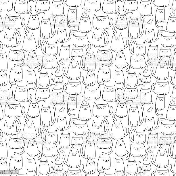 Seamless vector pattern with plenty of cutel cats vector id614122624?b=1&k=6&m=614122624&s=612x612&h=07 ul yy4jic scpkpcn2z3llgkvypbwplmbnap1buo=