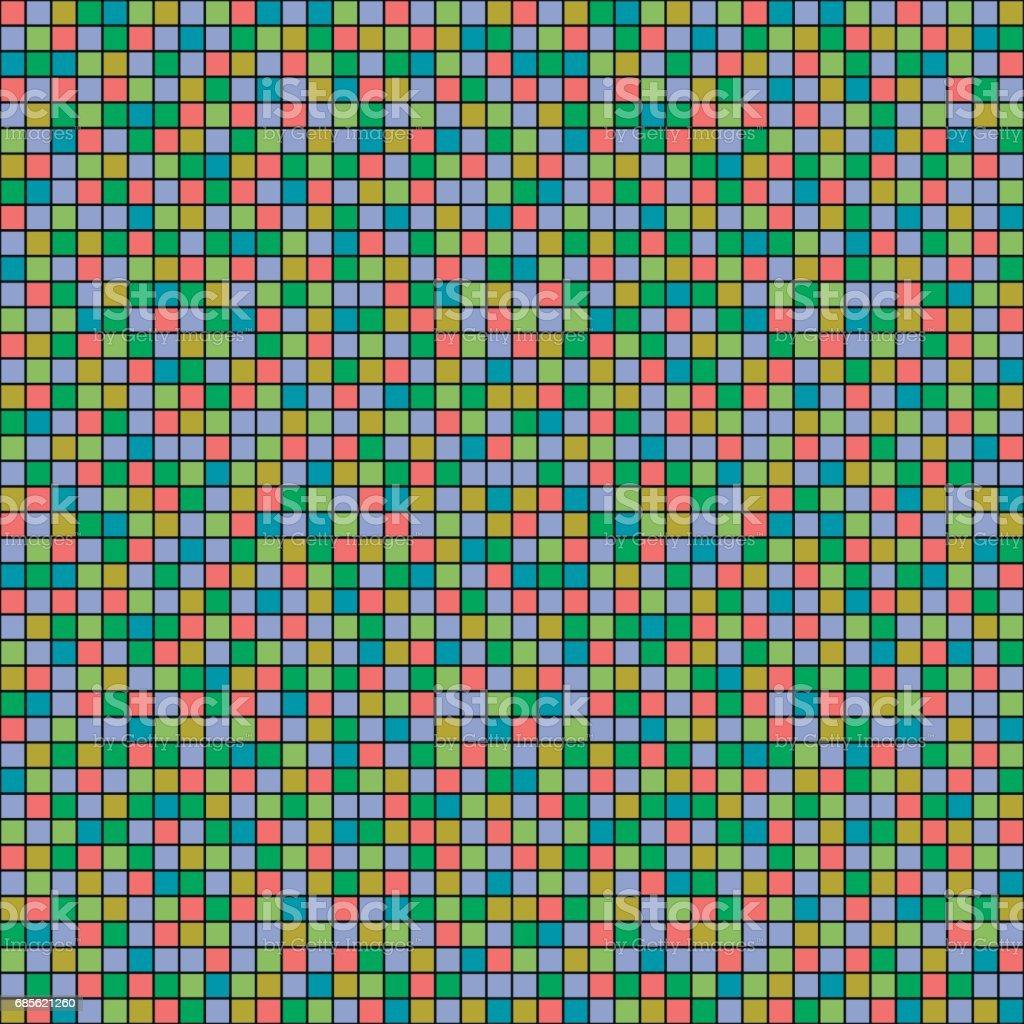 Nahtlose Vektormuster mit Quadraten. Einfachen karierten Grafik-Design. gezeichneten Hintergrund mit kleinen dekorativen Elementen. Für Verpackung, Web-Hintergründe, Stoff, Dekor, Oberfläche drucken Lizenzfreies nahtlose vektormuster mit quadraten einfachen karierten grafikdesign gezeichneten hintergrund mit kleinen dekorativen elementen für verpackung webhintergründe stoff dekor oberfläche drucken stock vektor art und mehr bilder von abstrakt