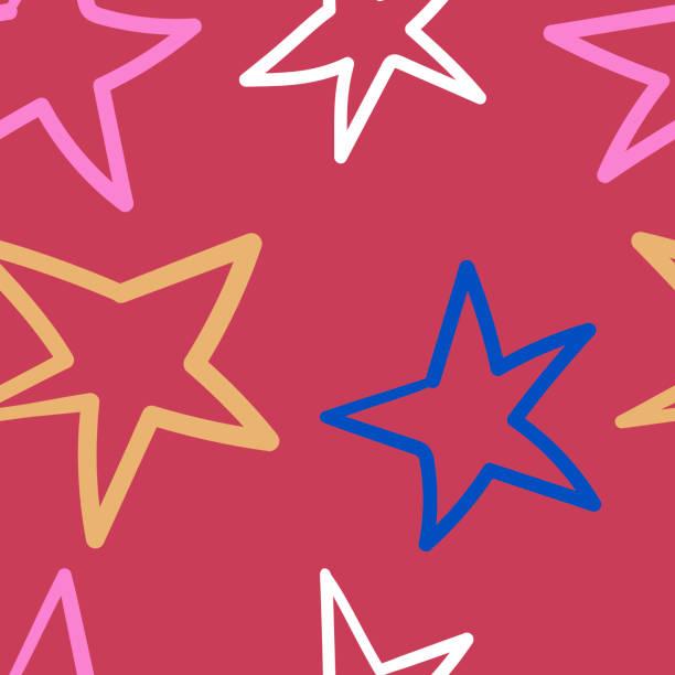 Seamless vector pattern with stars vector art illustration