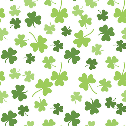 Seamless vector shamrock background for St. Patricks Day