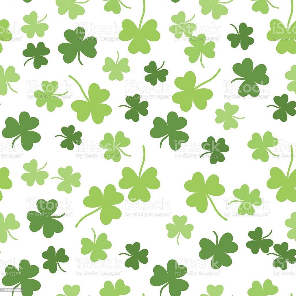 Seamless vector shamrock background for St. Patricks Day vector art illustration