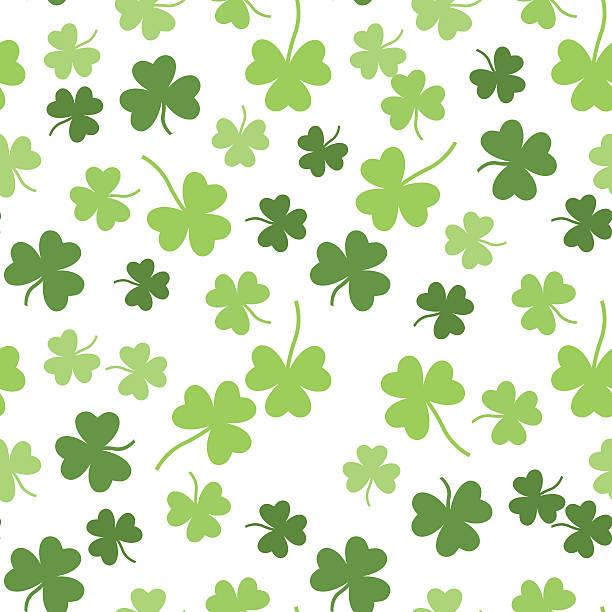 Seamless vector shamrock background for St. Patricks Day Seamless vector green shamrock clover background for St. Patricks Day shamrock stock illustrations