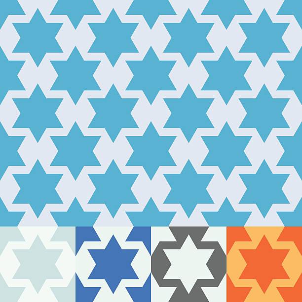 Seamless vector Star of David design. vector art illustration