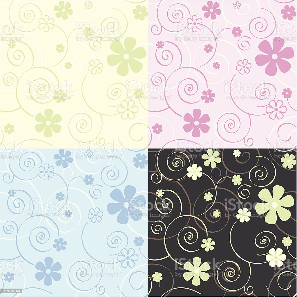 Seamless vector wallpaper pattern royalty-free seamless vector wallpaper pattern stock vector art & more images of backgrounds