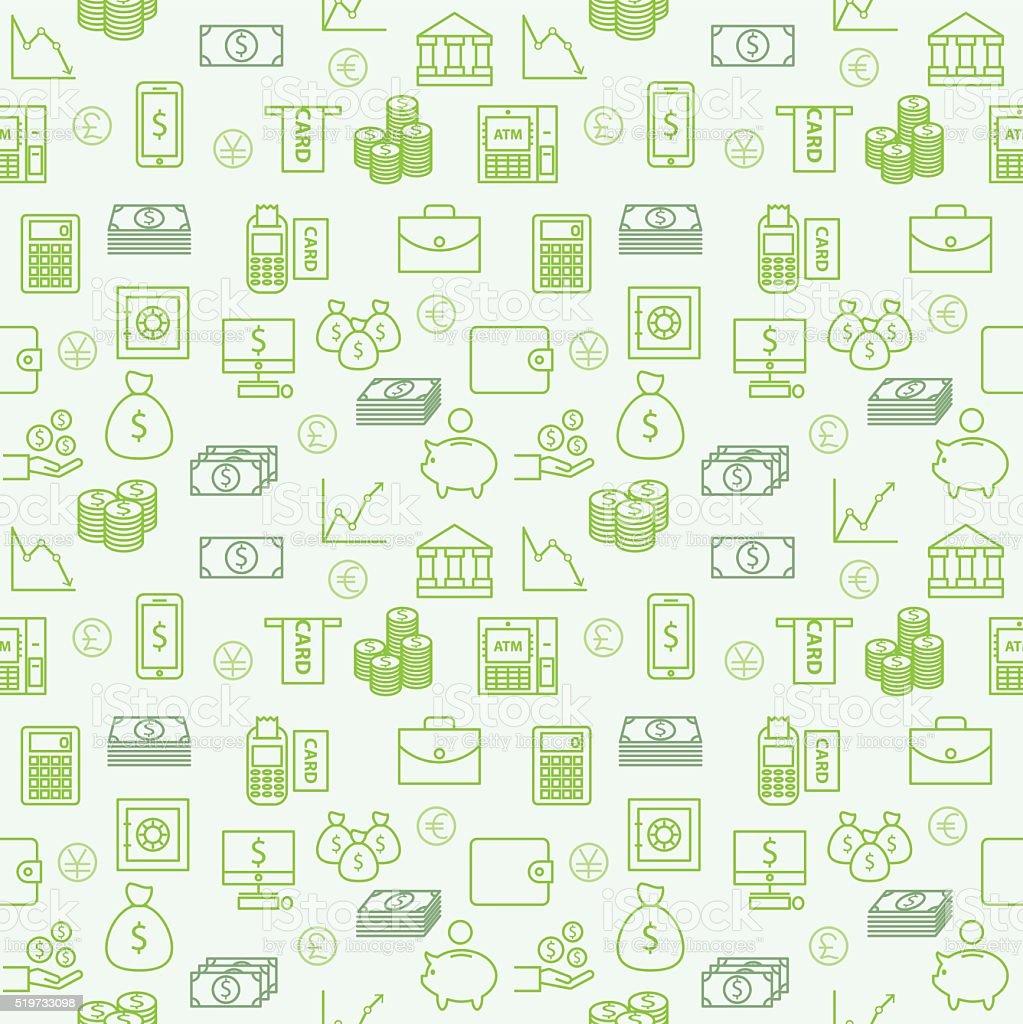 シームレスなパターンベクトル壁紙または背景お金金融および投資