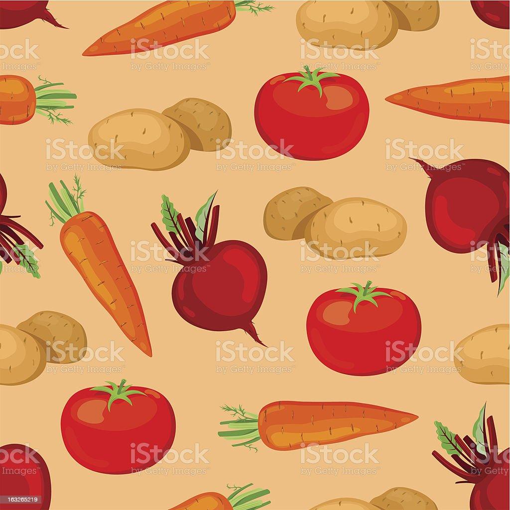 Seamless vegetables pattern. royalty-free stock vector art