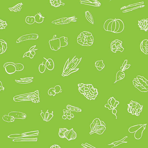 Nahtlose Gemüse Muster – Vektorgrafik