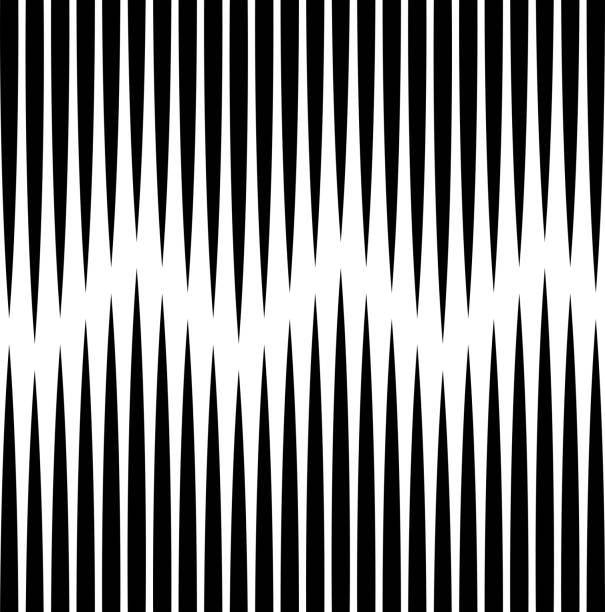 Nahtlose vertikale Linienmuster. Vector Black And White Stripe Hintergrund. Umhüllung Papierstruktur – Vektorgrafik